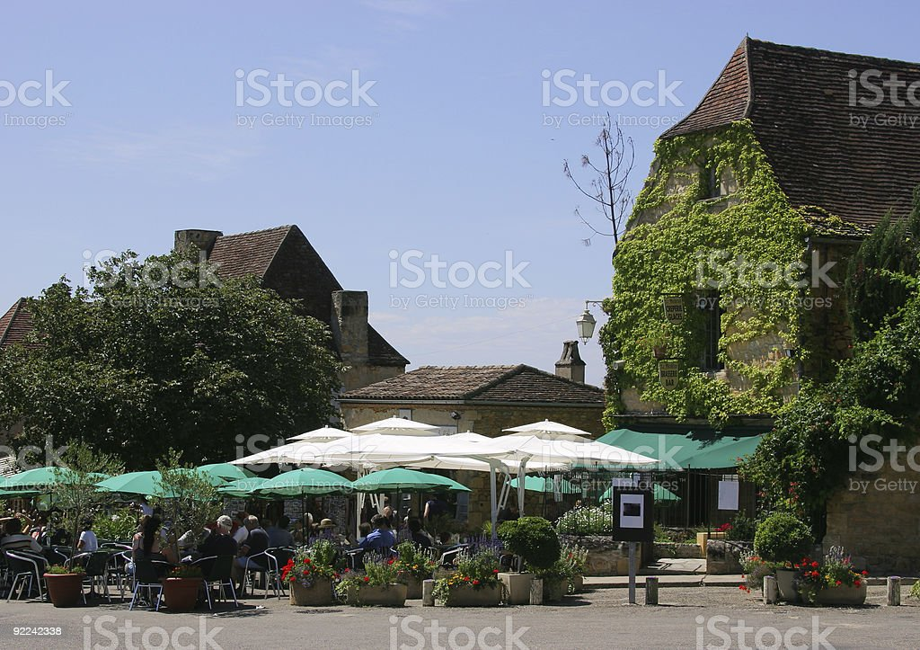 French Cafe in the Sun stock photo