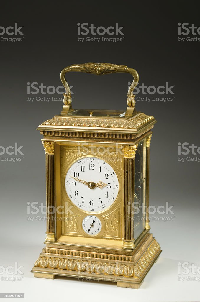 French Carriage Clock, Circa 1880-1890 stock photo