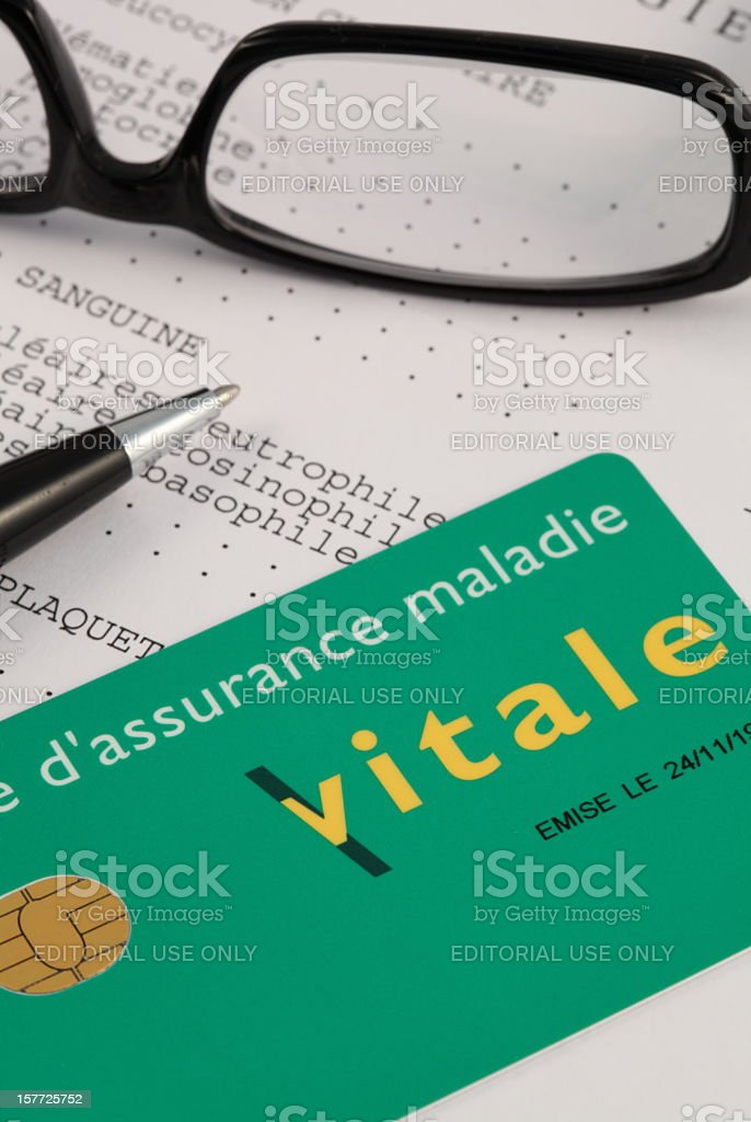 French Carte Vitale (Social Security Card) royalty-free stock photo