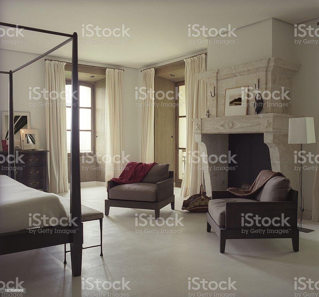 French castle modern interior royalty-free stock photo