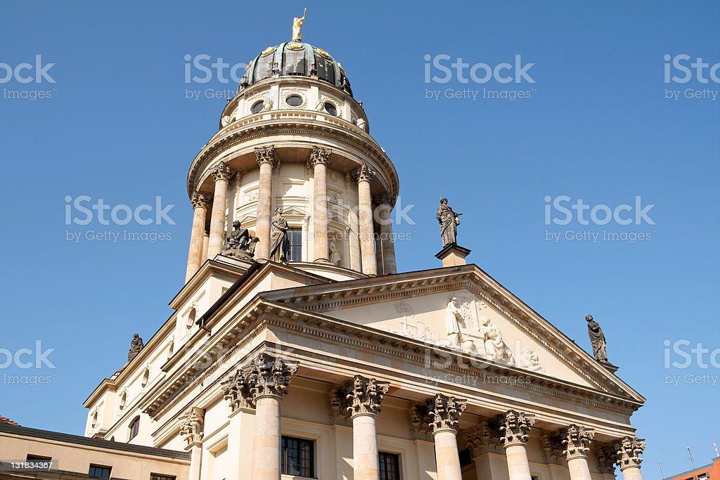 French Cathedral in Gendarmenmarkt Square, Berlin stock photo