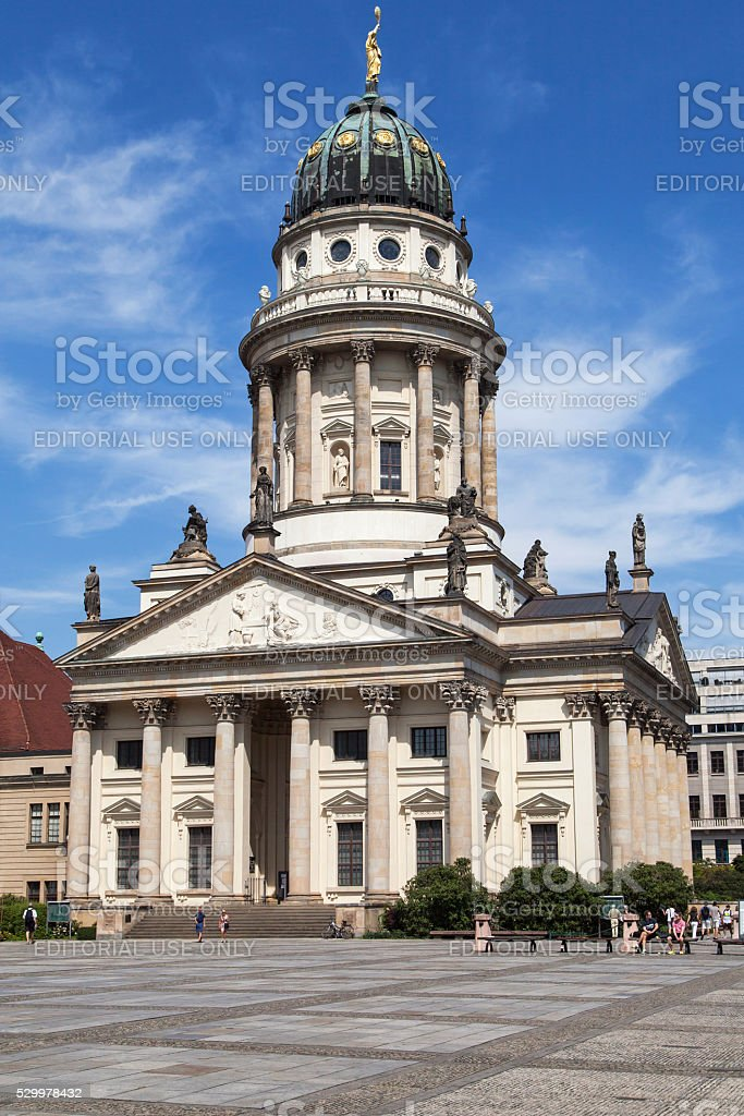 French Cathedral in Gendarmenmarkt Square stock photo