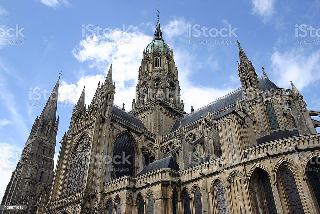 French Cathedral stock photo