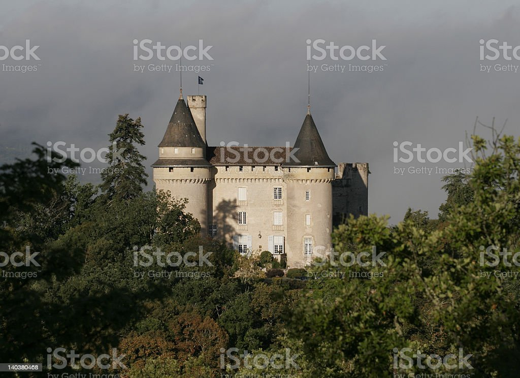 French Chateau stock photo
