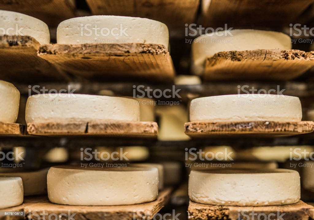 French cheese on stacks