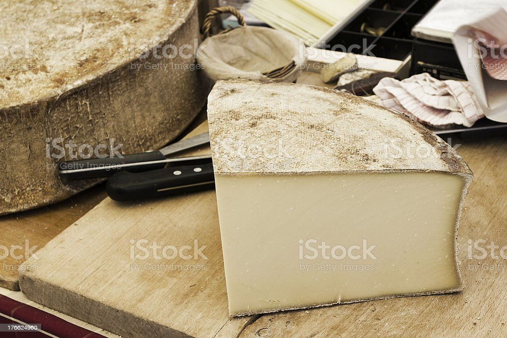 French cheese stock photo