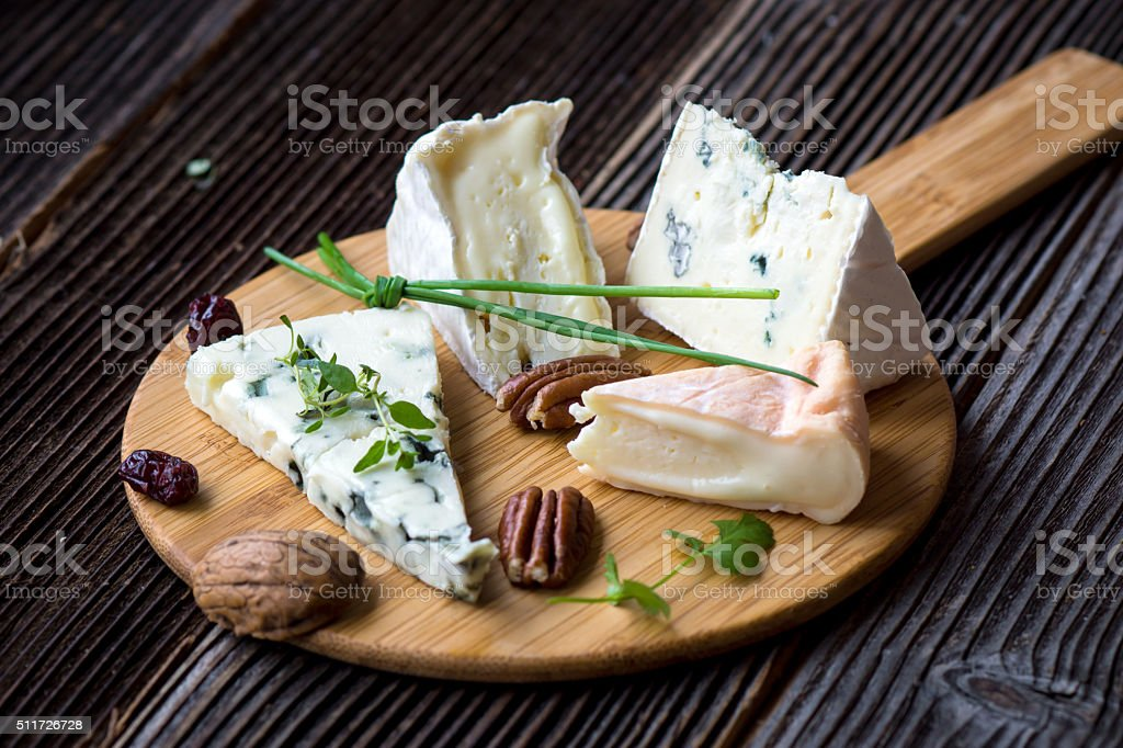 French cheese platter stock photo