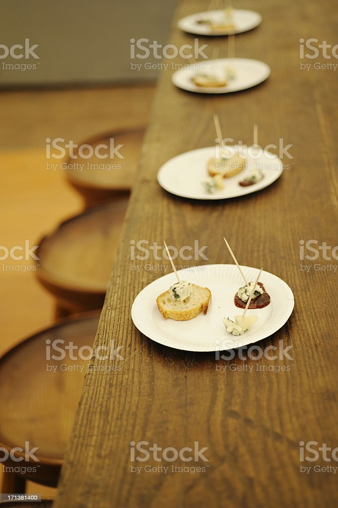 French cheese tasting with Roquefort royalty-free stock photo