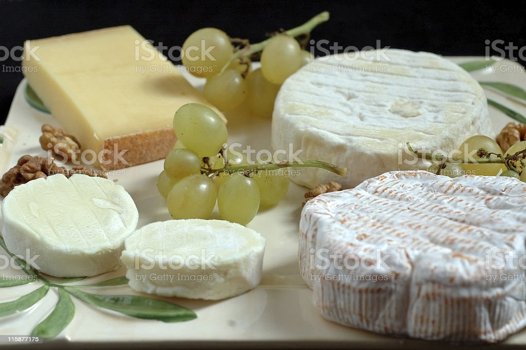 French cheeseboard (detail) royalty-free stock photo