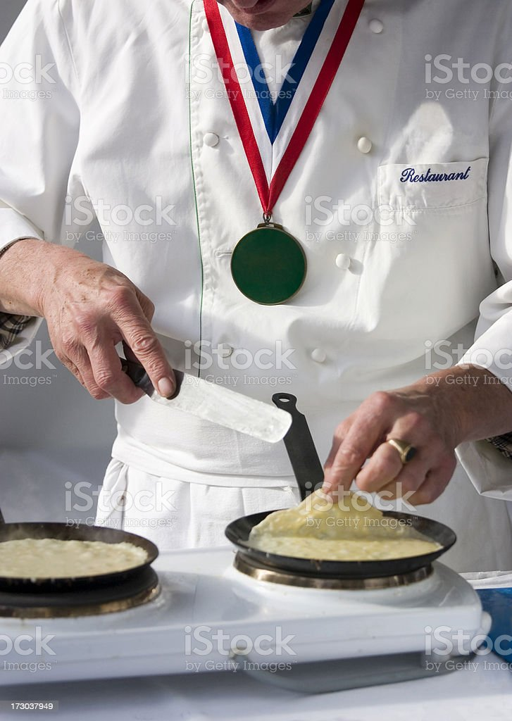French Chef Demonstrates stock photo
