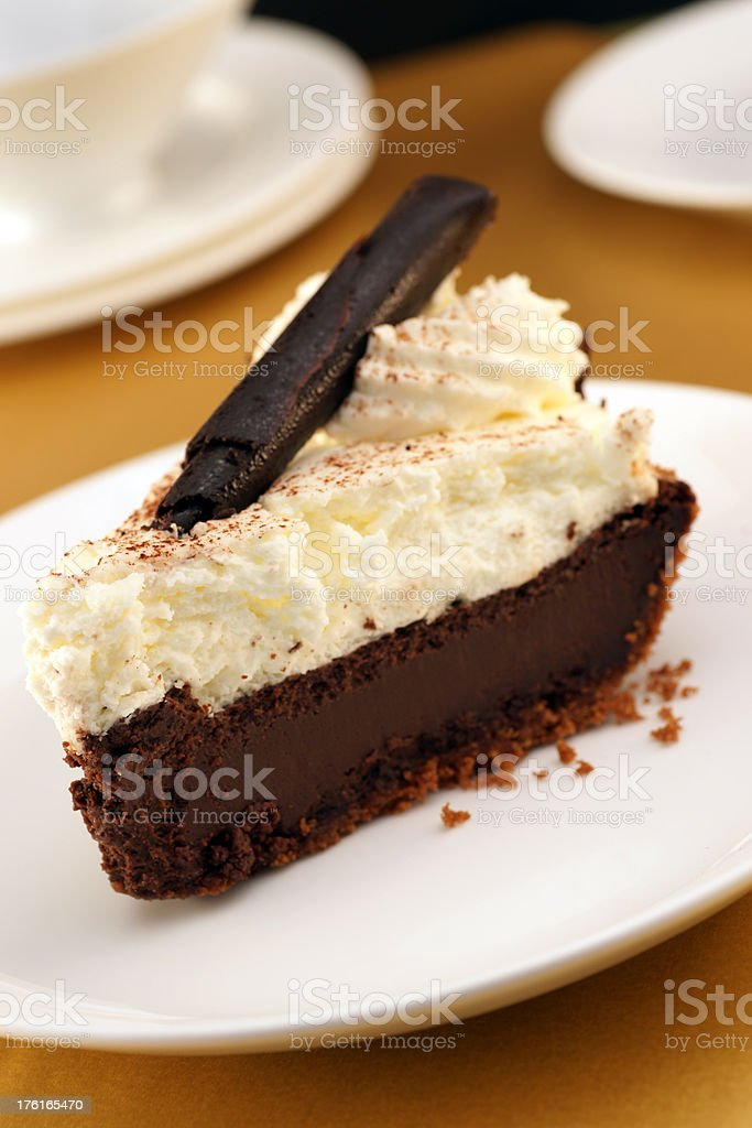 French Chocolate Silk Pie stock photo