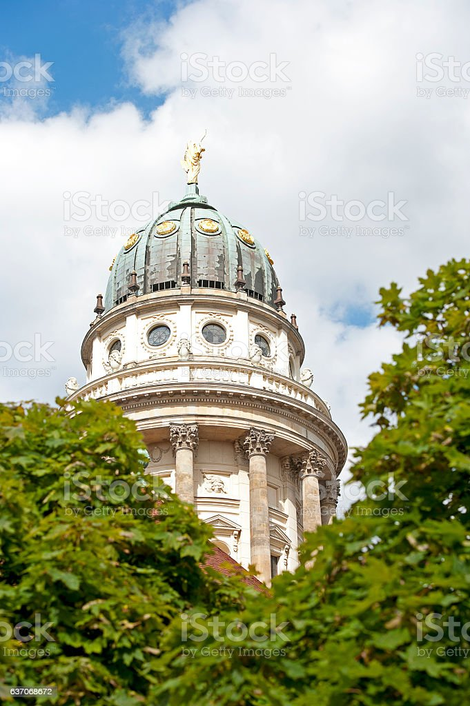 French Church cupola, Gendarmenmarkt, Berlin, Germany stock photo