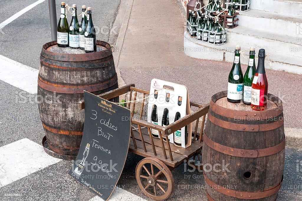 Französischer Cidre stock photo