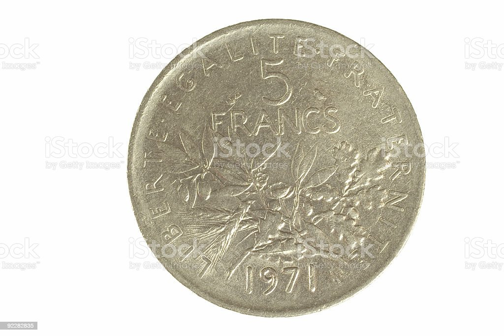 French Coin 2 stock photo