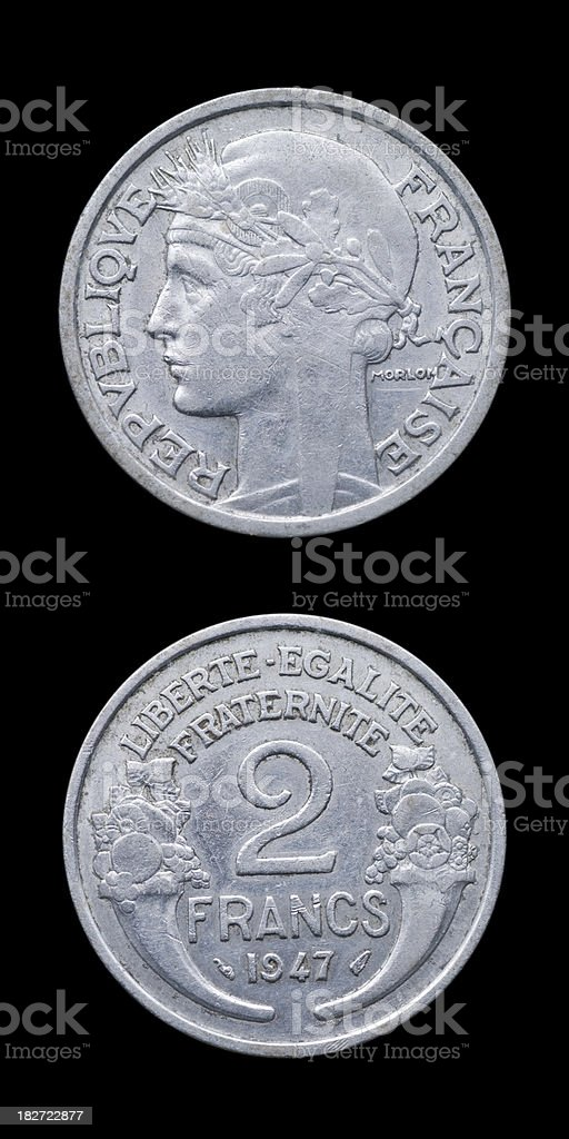 French Coin stock photo