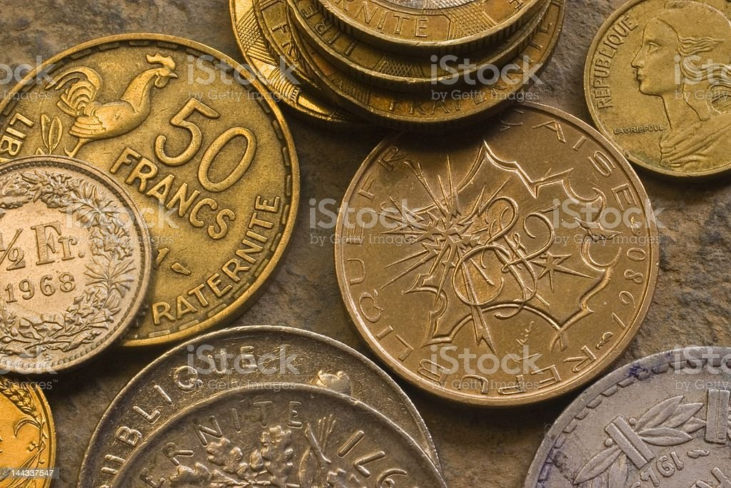 French Coins royalty-free stock photo