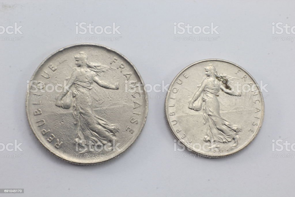 French coins stock photo