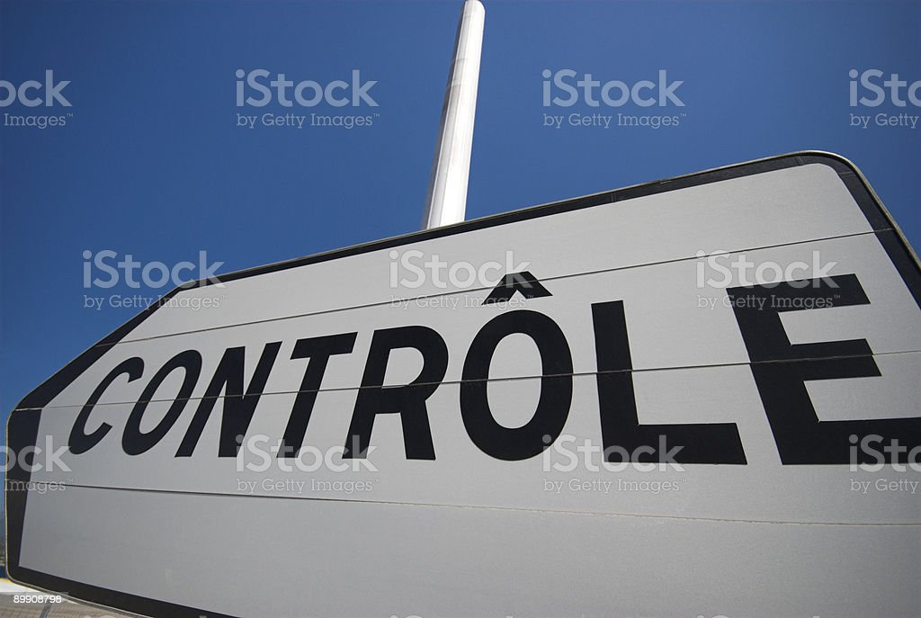 French Control Sign royalty-free stock photo