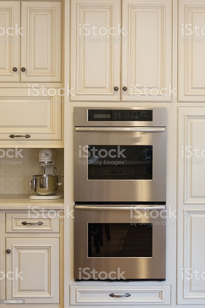 French Country Kitchen Oven stock photo