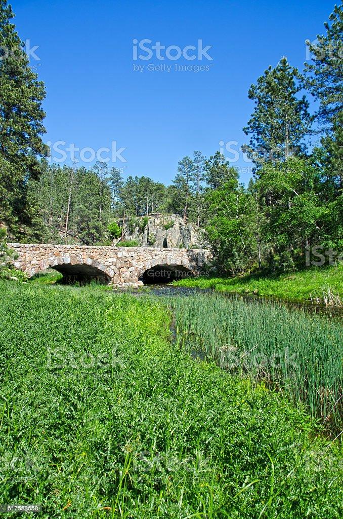 French Creek Bridge in Custer State Park stock photo