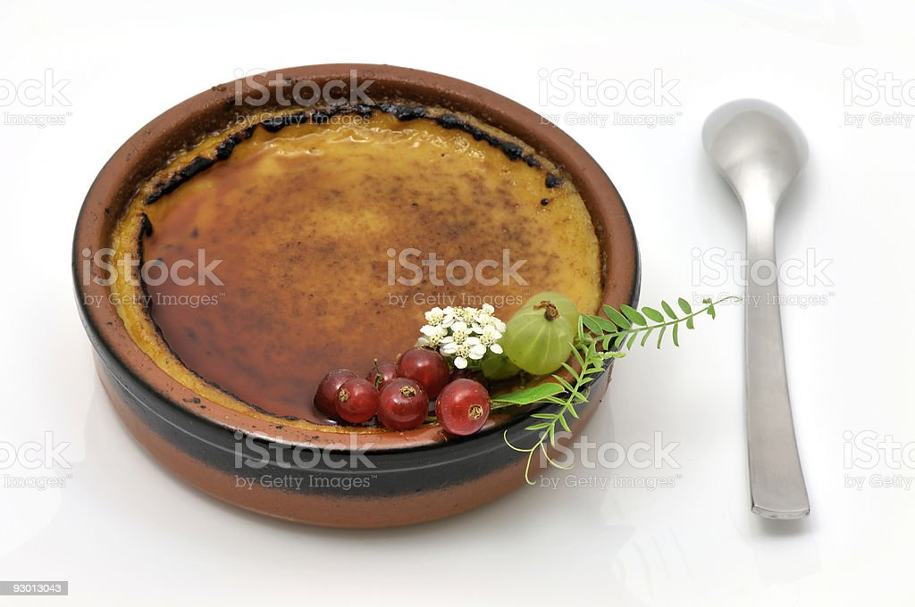 French creme brulee stock photo