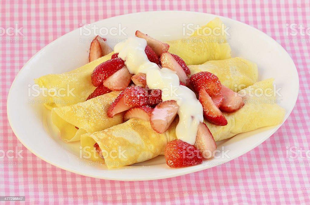 French Crepe Breakfast stock photo
