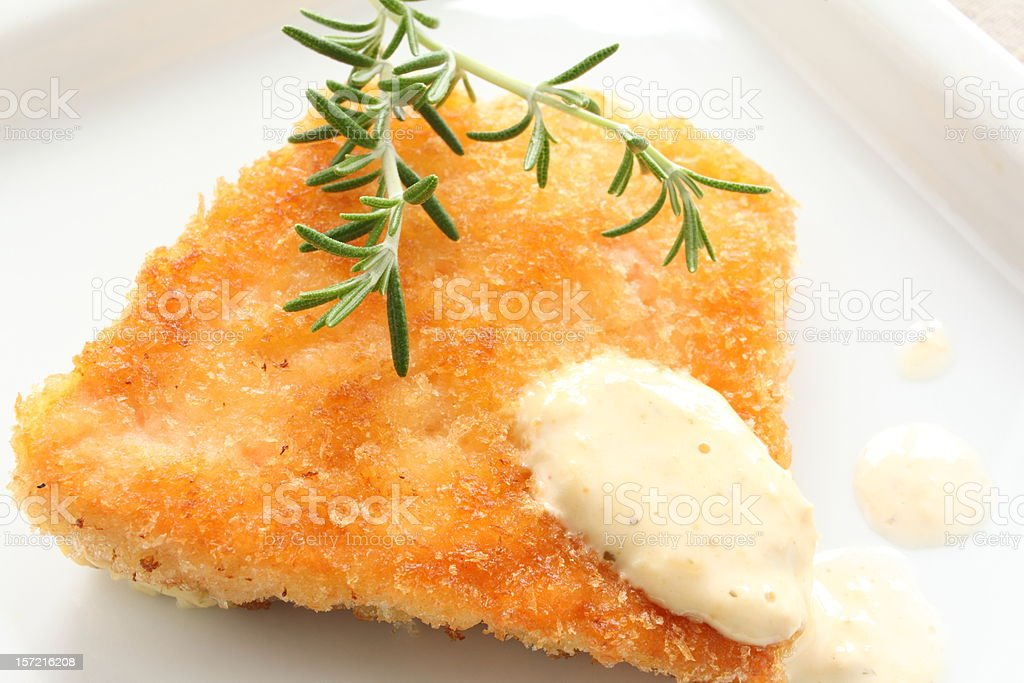 french cuisine, salmon fillet cutlet stock photo