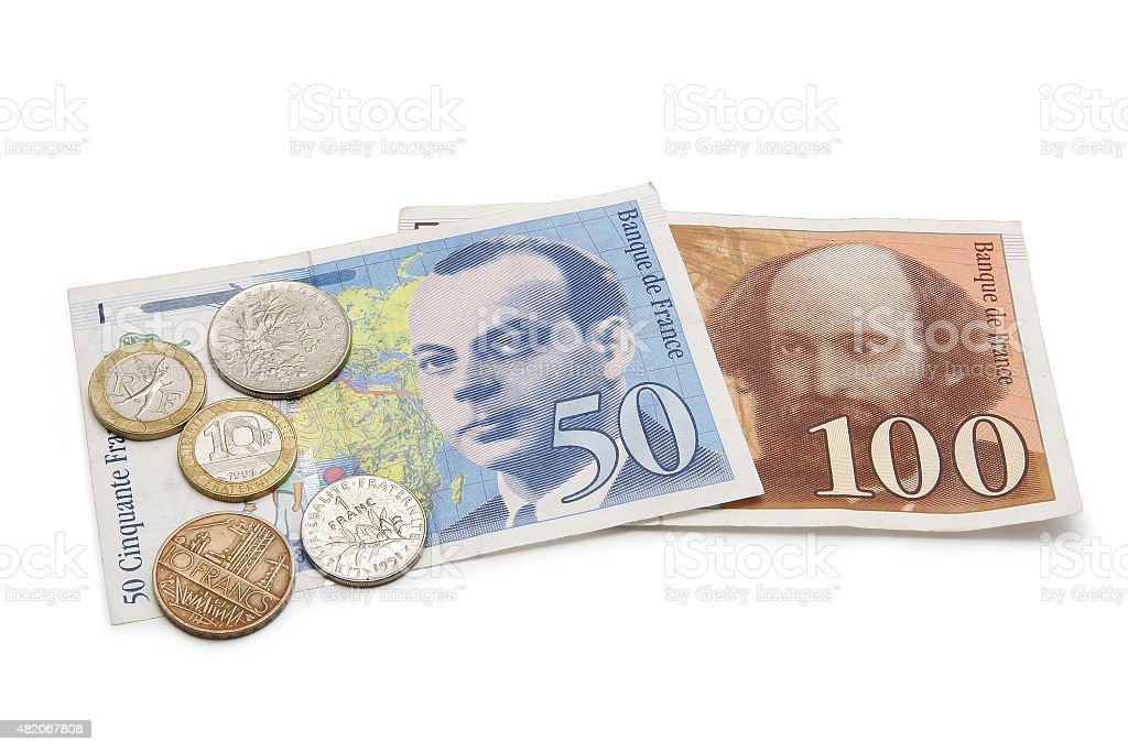French Currency stock photo