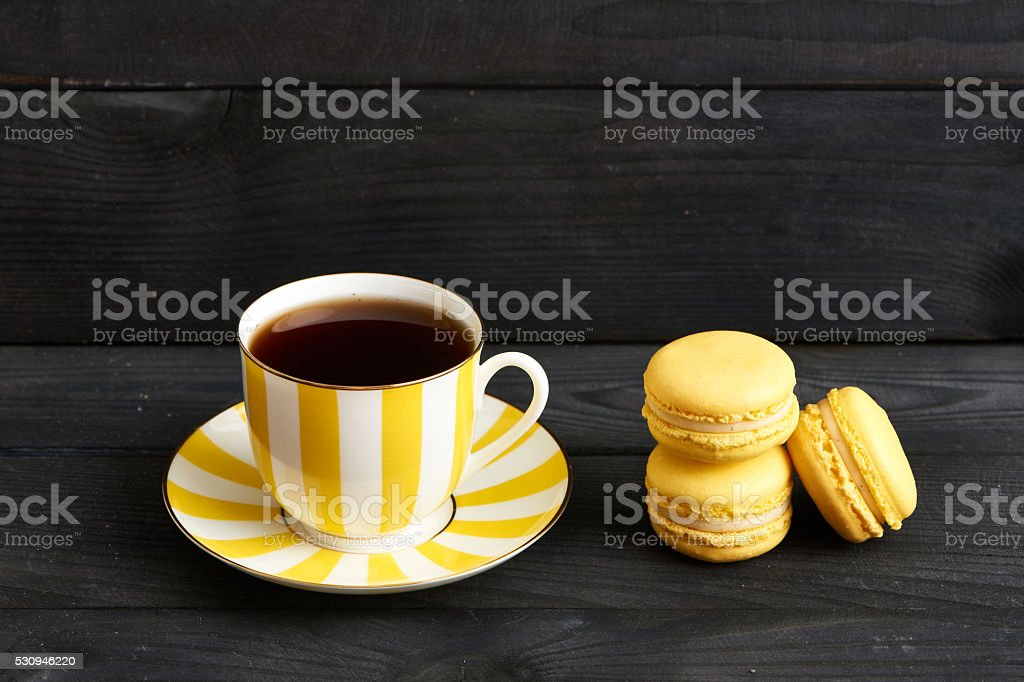 French delicious dessert macaroons stock photo