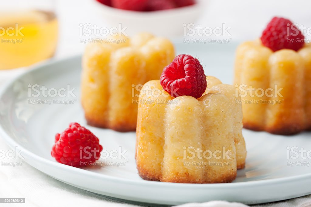 French dessert, cakes, caneles, rum baba stock photo