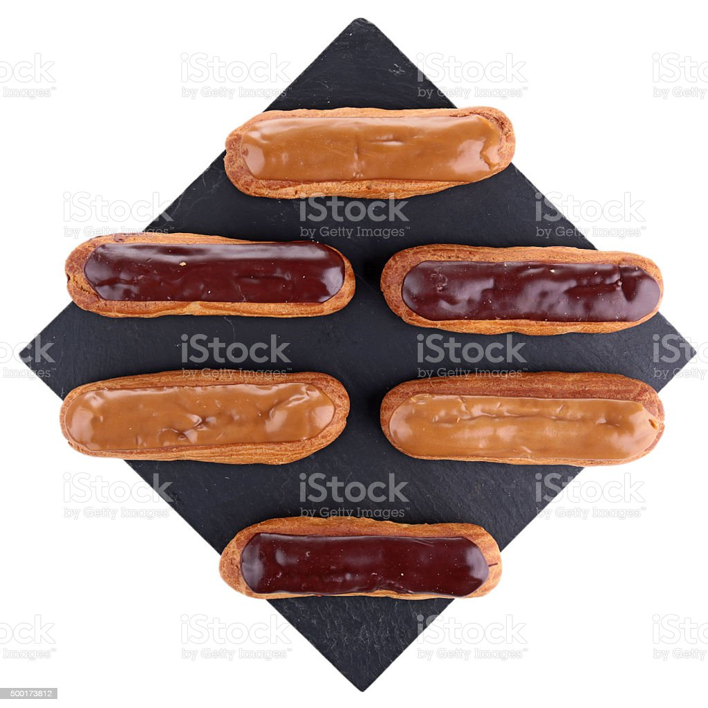 french dessert,eclair stock photo
