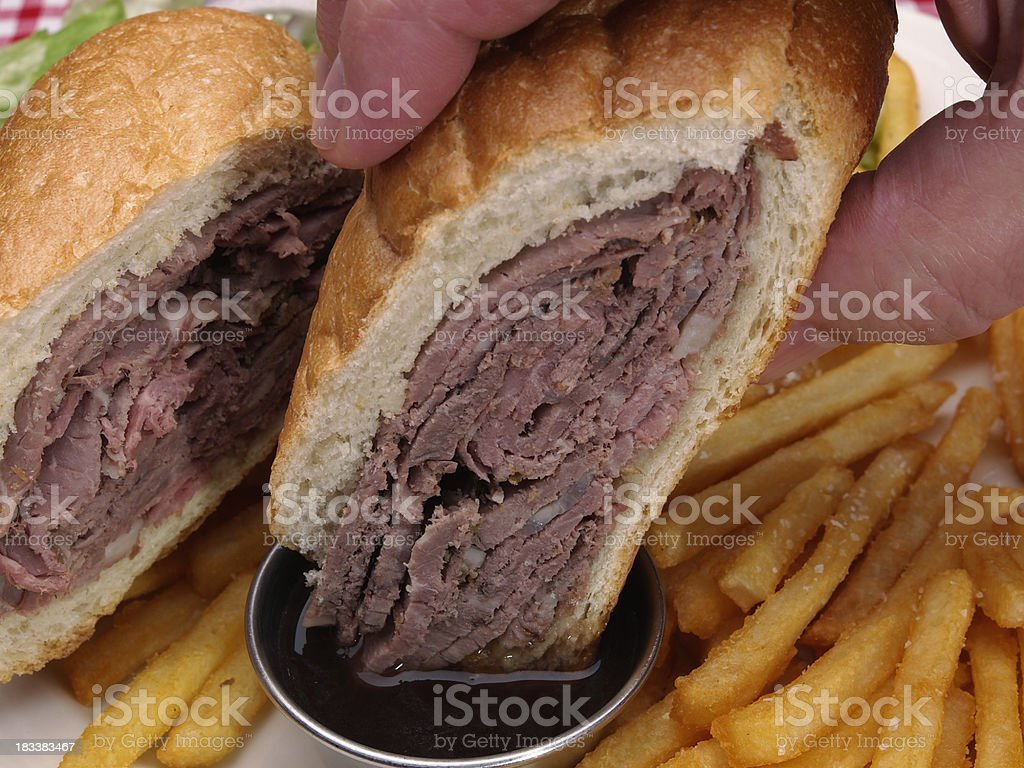 French Dip Sandwich stock photo