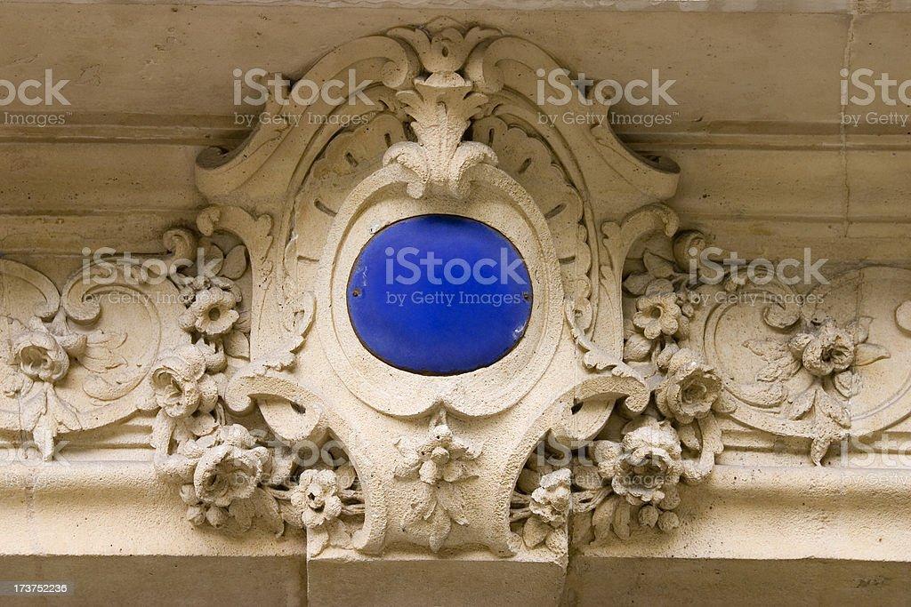 French Door Cartouche stock photo