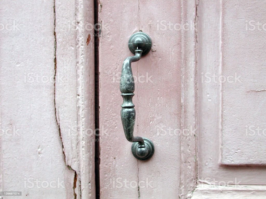 french doorknob royalty-free stock photo
