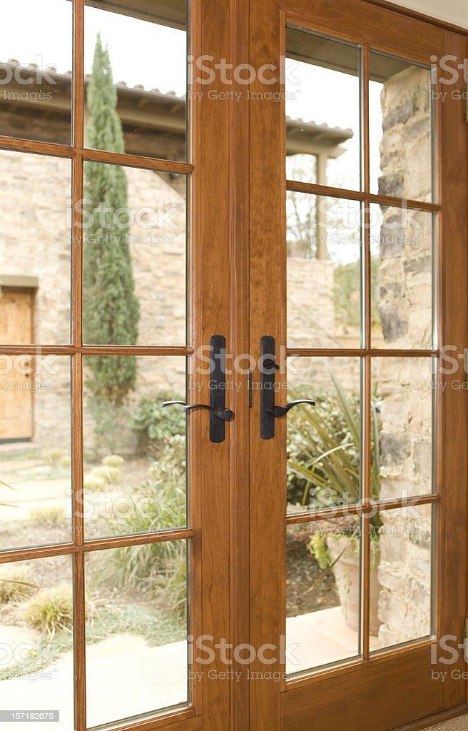 French Doors stock photo