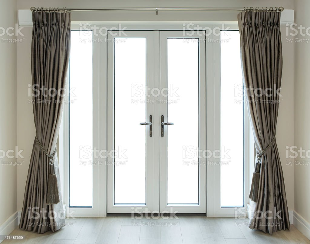 French Doors with Clipping Path royalty-free stock photo