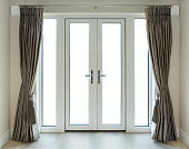 French Doors with Clipping Path