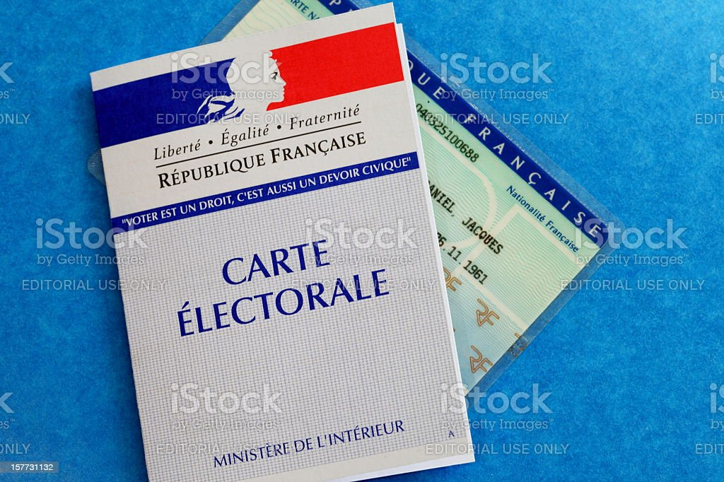 French electoral card royalty-free stock photo