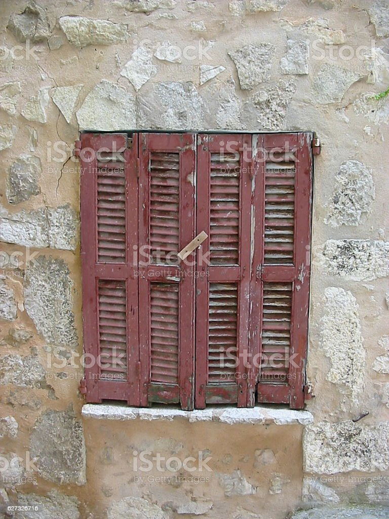 French Faded Shutters stock photo