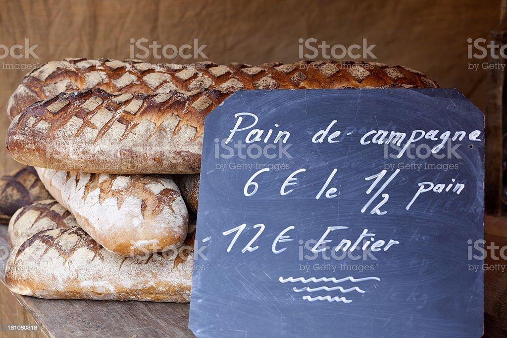 French Farmhouse Bread royalty-free stock photo