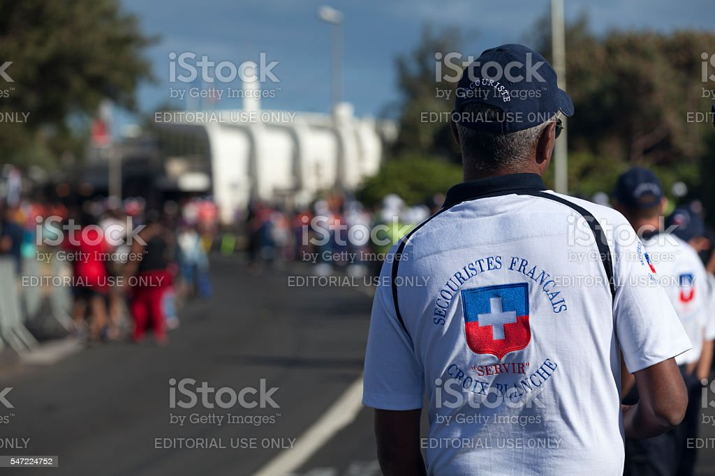 French First Responder stock photo