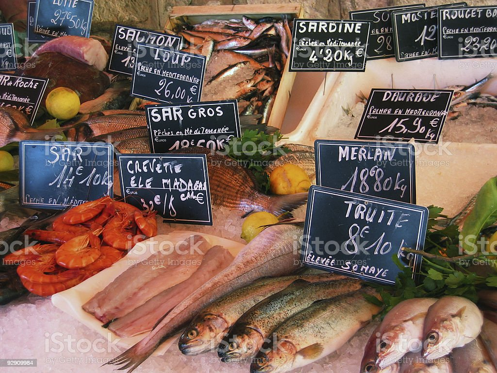 French Fish Market stock photo