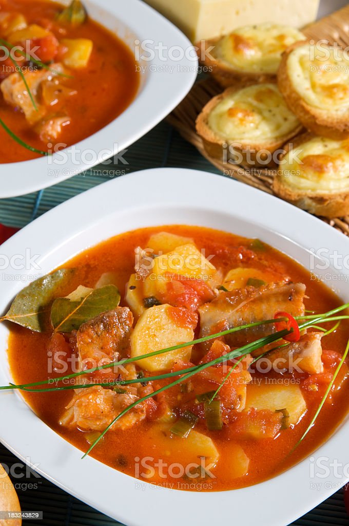 French fish soup stock photo