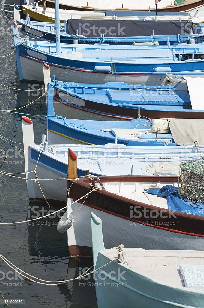 French fishing boats stock photo