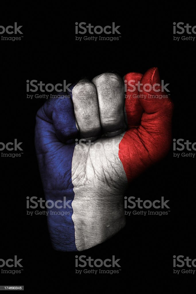 French Flag Fist royalty-free stock photo