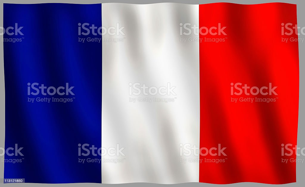 French Flag Front View royalty-free stock photo