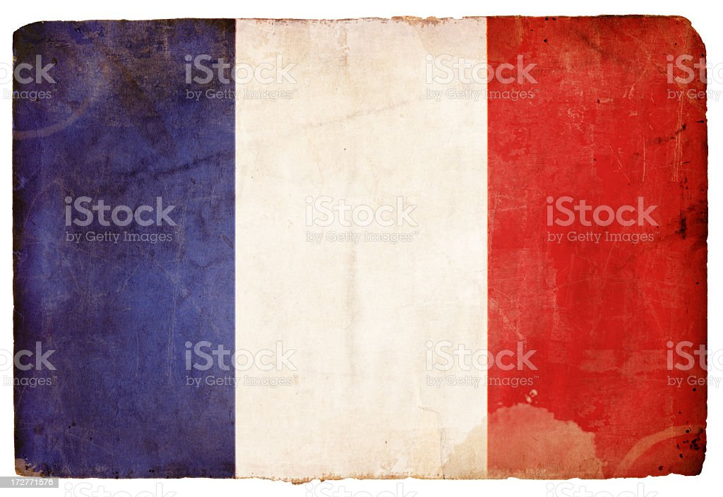 French Flag Grunge XXXL royalty-free stock photo