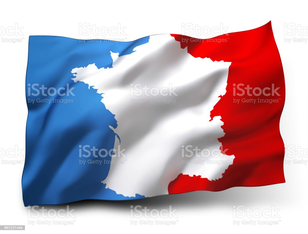 French flag label stock photo