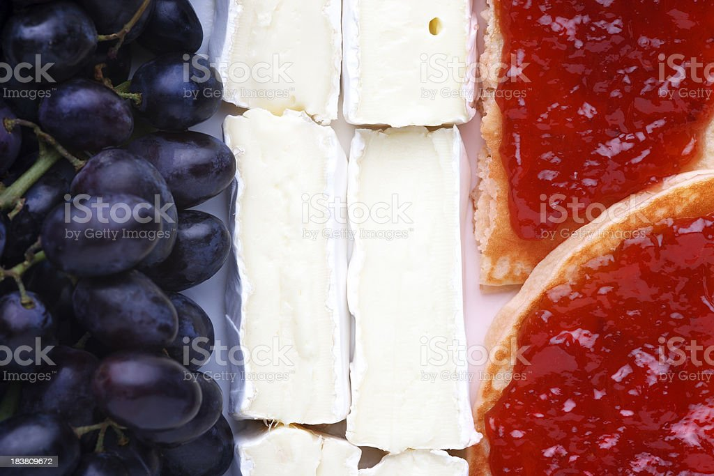 French Flag made out of food royalty-free stock photo