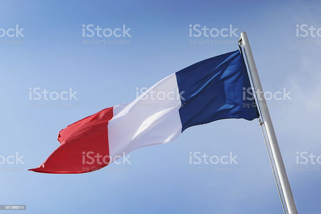 French Flag royalty-free stock photo